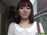 Asian whore flashes panty