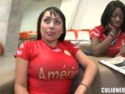 culombianas adictas al futbol
