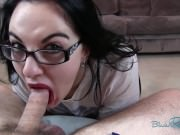 Nerdy MILF Gets Spunked