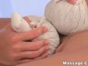 Sister lesbians massage and masturbation