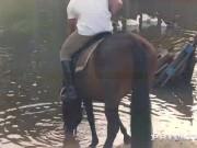 Private com - Horse Rider Yasmin Scott Rides a Hung Stallion