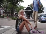 Blonde teen public masturbation Vanda
