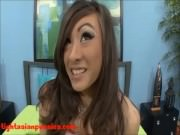 cute 18 year old tiny skinny asian with tounge ring gets slammed