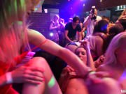 Gorgeous lesbian babes masturbating in the club