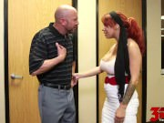 Bossy MILF Fucks Her Employee Alyssa Lynn