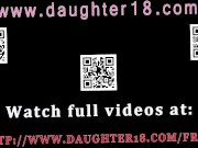 Blonde playfellow's daughter fucks dad for
