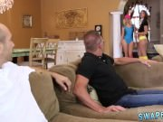 Step dad and mom punish friend's daughter