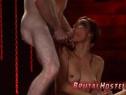 Rough milf throat fuck first time Poor tiny