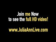 The MOM You Want To Fuck Is Julia Ann Who Gets A Cock & Cum!