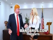 BANGBROS - Luna Star Gets Grabbed By The Pussy At The White House!