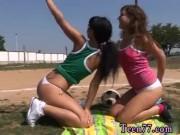 Girl touching herself public hot teen